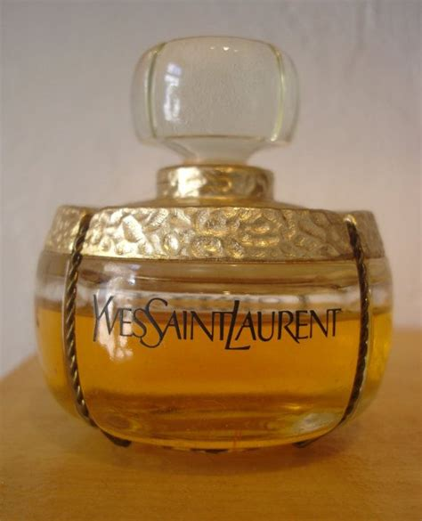 perfume bottle with holly vintage chagne by yves st laurent discontinued perfume bottle vintage