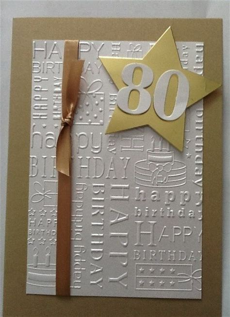 Handmade 80th Birthday Cards - 25 best ideas about 80th birthday cards on