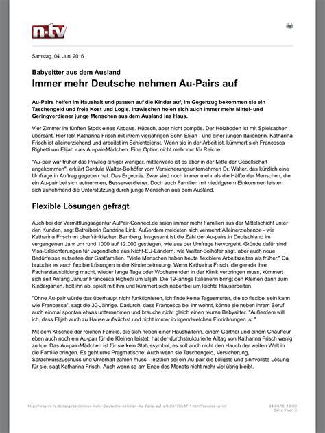 Lebenslauf Englisch Au Pair aupair connect ihre service au pair agentur news
