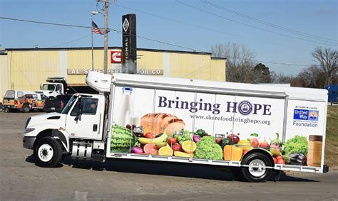 Mobile Food Pantry Truck by Food Bank United Way Collaborate On Mobile Food Truck