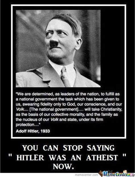 Smug Atheist Meme - image 520831 adolf hitler know your meme