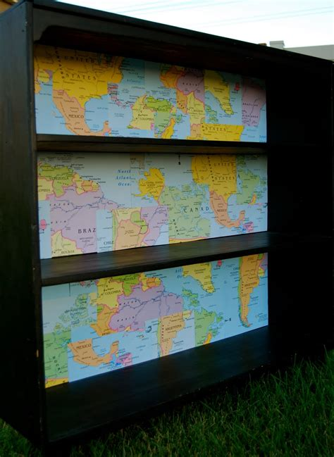 vermillion yard sale bookcase plus dollar store maps