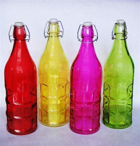 decoracion de botellas de vidrio vacias botellas de vidrio vac 237 as con tap 243 n 1 lt florero dulces