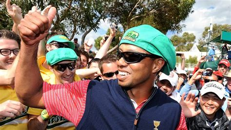 tiger woods golden shower tiger woods finds his golden touch as greg norman calls