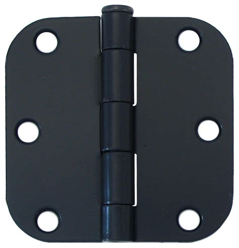 everbilt 3 inch iron black 5 8rd door hinge 2pk the home