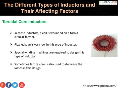 various types of inductor the different types of inductors and their affecting factors