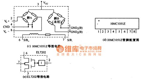 application of integrated circuit the application circuit diagram of magnetic resistance integrated circuit hmc1051z basic
