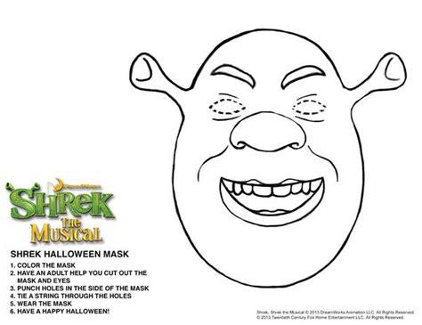 printable shrek mask shrek the musical shreksteronline twitter