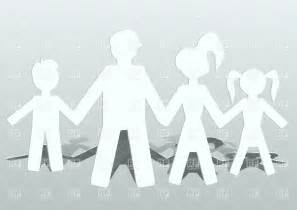 Family Cut Out Templates by Cut Out Of Paper Family Conception Vector Image