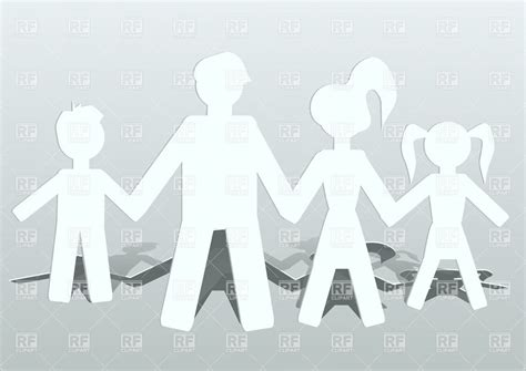 people cut out of paper family conception royalty free
