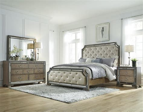 bedroom sets with mirror headboard pulaski furniture
