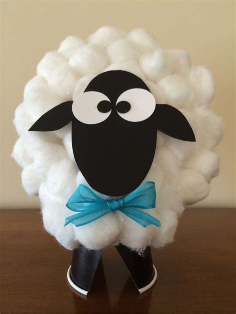 Sheep Paper Plate Craft - cotton sheep crafts on