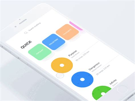 design by humans app playlist radial interaction by johny vino dribbble