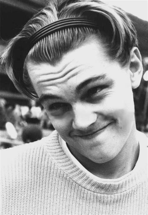 young leonardo dicaprio repping a headband.   We Heart It
