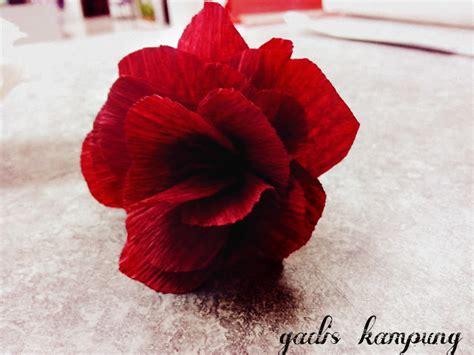 tutorial bunga rose kertas hasil tangan gadis kampung tutorial cara membuat bunga