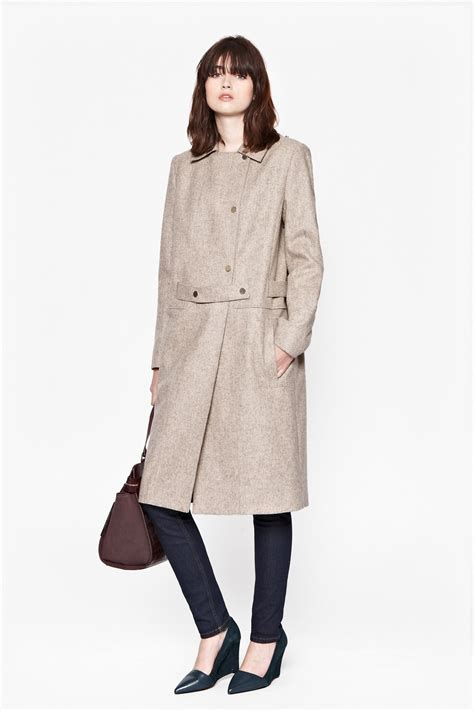 Wool Belted A Line Coat From Ms by Northern Wool Belted Coat