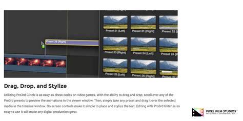 Final Cut Pro Glitch Effect | developers at pixel film studios release pro3rd glitch for