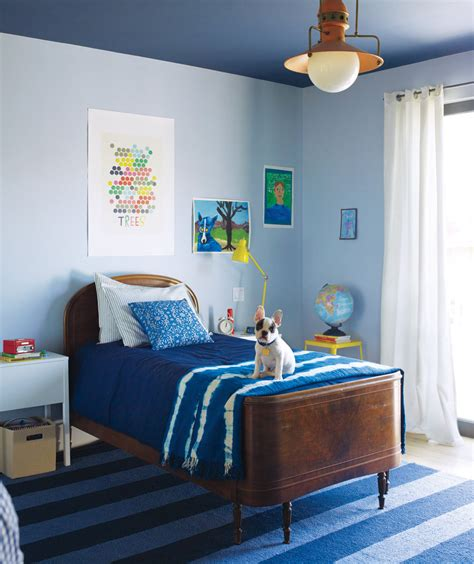 Bedroom Decorating Ideas Real Simple Try A Paint Trick Blue Decor Real Simple