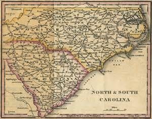 carolina colonial map post roads ncpedia