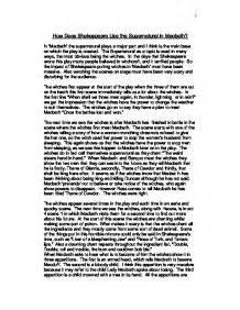 the supernatural in shakespeare english literature how does shakespeare use the supernatural in macbeth