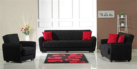 red and black couch set black and red leather modern living room sofa aes 7030 bl