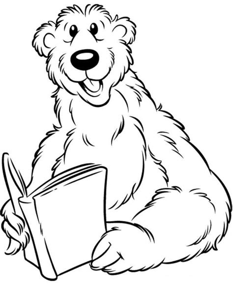 cartoon bear coloring page picture of a cartoon bear coloring home