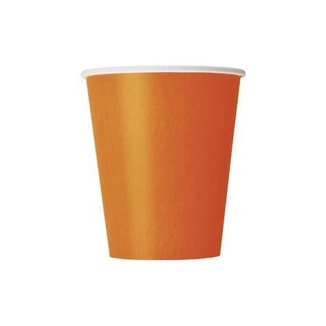 bicchieri carta bicchieri carta arancione 270ml 8pz