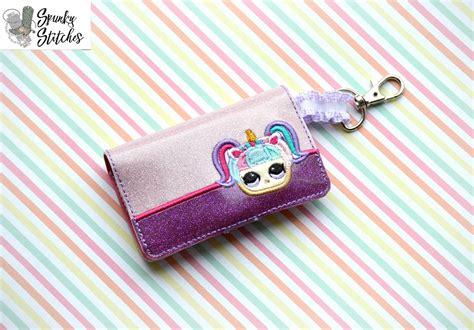design doll license key lol doll unicorn mini wallet spunky stiches