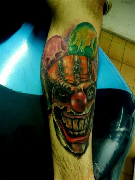 argentina tattoo designs clown payaso taito tatuaje by diegoalejandrotattoo san