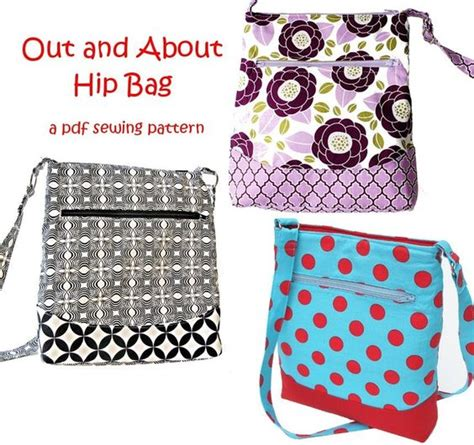 free pattern bags download out and about hip zipper bag free printable sewing
