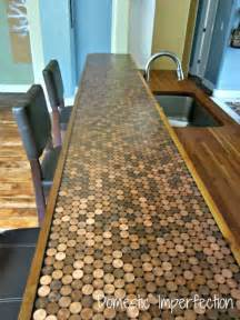 Penny countertops from domestic imperfection