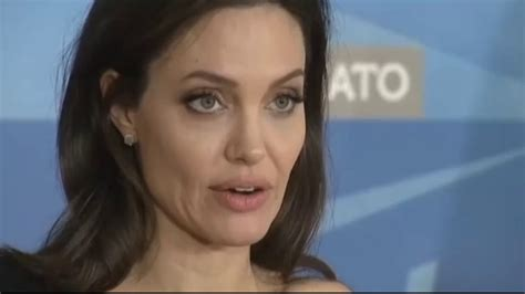 hollywood actress recently died angelina jolie s speech at the nato on 31 january 2018