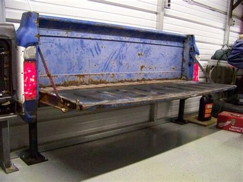 bench made from truck tailgate diy garage work bench made from an old truck tailgate projects pinterest