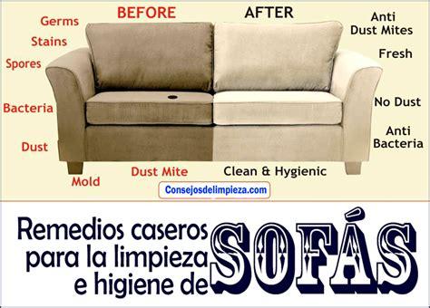 limpiar el sofa consejos para la limpieza de los sof 193 s consejos de