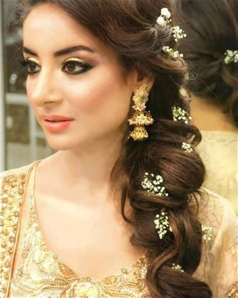 image result  indian bridal side braid pakistani
