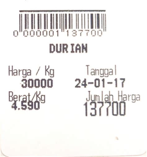 Gambar Timbangan Retail setting barcode barang timbangan digital berdasarkan harga