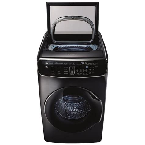 shop samsung flexwash 6 cu ft high efficiency front load washer black stainless steel energy