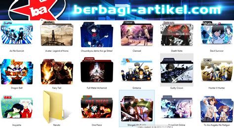 download video tutorial gambar anime cara mengganti folder icon dengan gambar anime