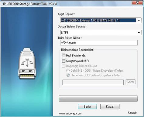 format hard disk from usb hp usb disk storage format tool inddir com