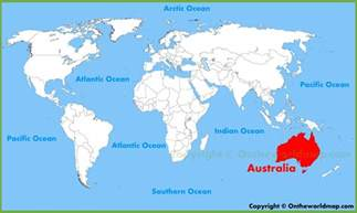 Australia Map Of The World by Map Of World Australia 187 Travel