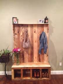storage bench made from pallets appendiabiti pallet 20 idee creative low cost