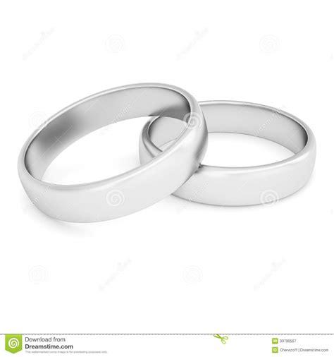 Ringe Silberhochzeit by Zwei Silberne Ringe Stock Abbildung Bild