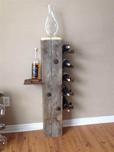 barn beam wine rack railroad spike art railroad spikes