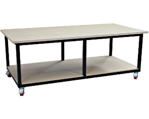 high work bench mobile steel work bench 2400 x 1200 b003218 819 00