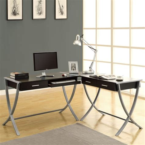 monarch specialties l shaped desk shop monarch specialties contemporary l shaped desk at