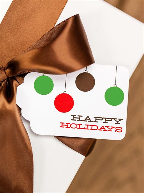 Homemade Gift Cards Templates - free christmas templates printable gift tags cards crafts more hgtv