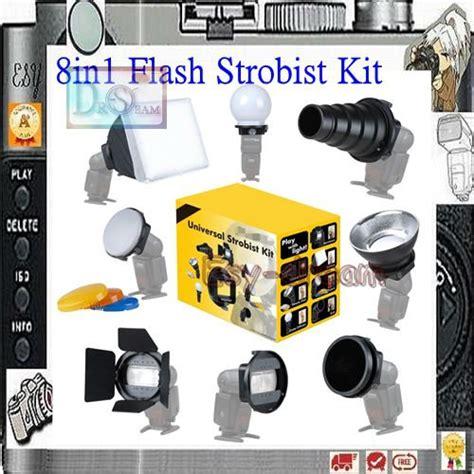 Strobist Flash Mount Softbox Kit new 8 in 1 universal flash strobist set flashgun