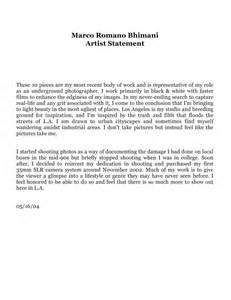artist statement template artist statement template sle artist statement program