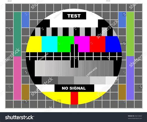 pattern quiz online tv color test pattern test card stock photo 93214642