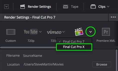 final cut pro backup final cut pro x to davinci resolve 12 5 and back ripple